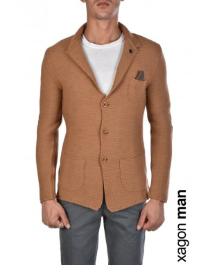 GIACCA CASUAL M2026M Slim Fit Cammello