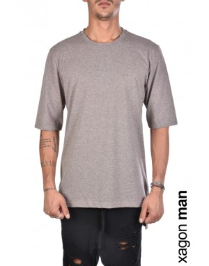 T-SHIRT J90045 Oversize Tabacco