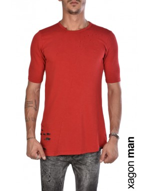 T-SHIRT J90049 Rotture Rosso
