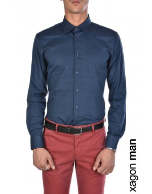 CAMICIA ABA203 Stretch Slim Fit Blu