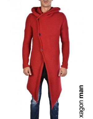 CARDIGAN J93005 Asimmetrico Rosso