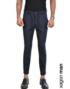 PANTALONE FTAG57 Stretch Regular Fit Blu