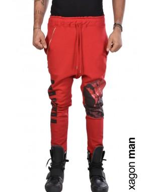PANTALONE FELPA J90054 Rosso