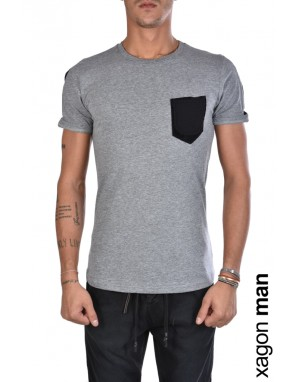 T-SHIRT MD2039 Regular Fit Grigio