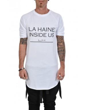 LH T-SHIRT LHM110B Stampa Banda Retro Bianco