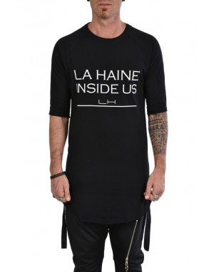 LH T-shirt LH110TS Stampa Banda Retro Nero