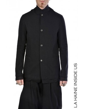 LH JACKET 3B FRENCH Cotton Linen Black
