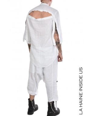 LH SHIRT 3B WOLFE Linen White