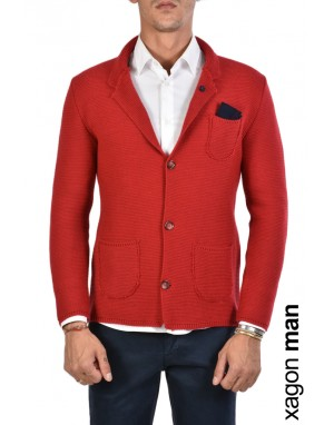 GIACCA CASUAL MD2063 Rosso