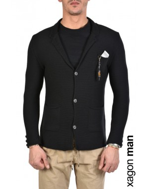 JACKET CASUAL MD9002 Black
