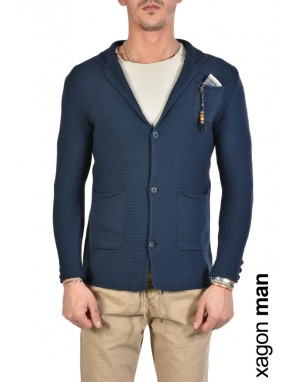 JACKET CASUAL MD9002 Blue