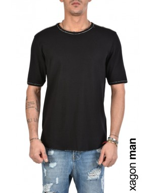 T-SHIRT J30005 Double Face Nero