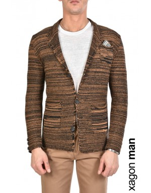 JACKET CASUAL MD9003 Tabacco