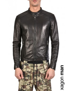 SPORT JACKET BPBASI Leather Black