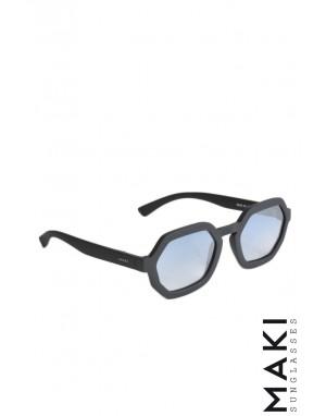 SUNGLASSES HBLK07 Black Gradient Lens Light Blue