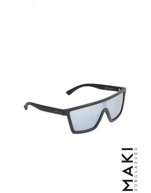 SUNGLASSES HBLK08 Black Mirror Lens Grey
