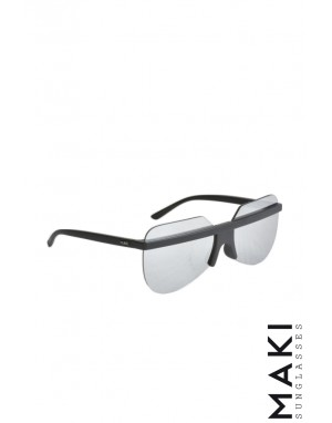 SUNGLASSES HBLK09 Black Mirror Lens Grey