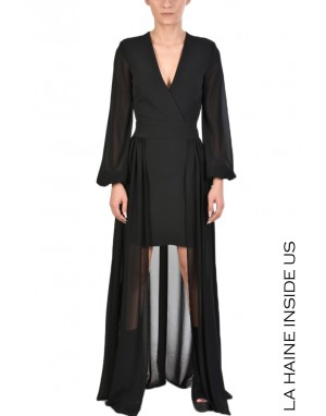 4R SHUNI DRESS Black
