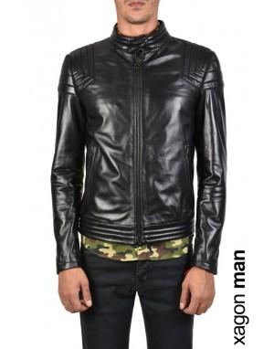 SPORT JACKET GKEBY3 Leather Black