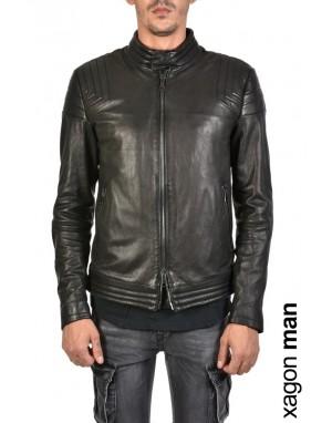 SPORT JACKET GKEBY1 Vegetable-tanned Leather Black
