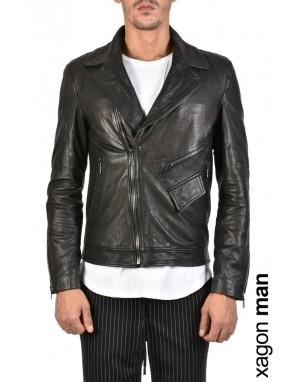 SPORT JACKET GCHIO2 Leather Black