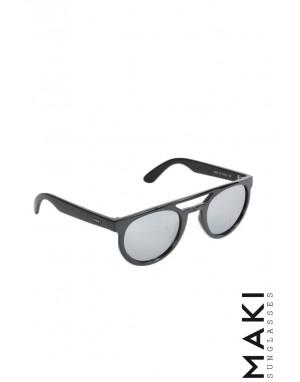 SUNGLASSES HVIRBL Black Mirror Lens Grey