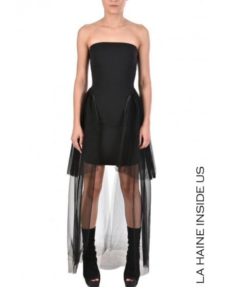 4B HERON DRESS Black