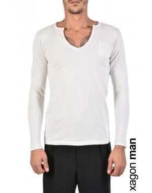 T-SHIRT Manica Lunga JBB413 Bianco