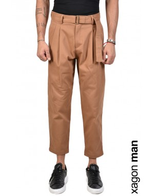 TROUSER FPOS20 High Waist Tabacco