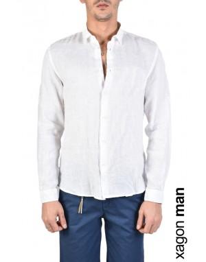 SHIRT A00010 Linen White