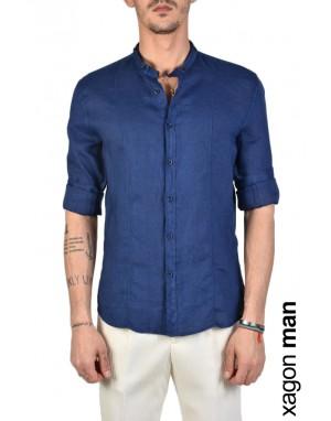 SHIRT A00011 Linen Blue