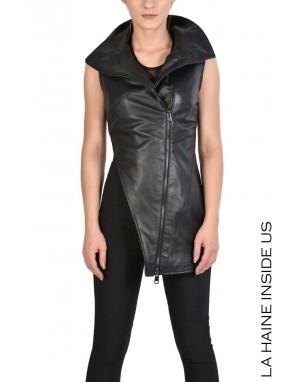 4B VUSA GILET Leather Black