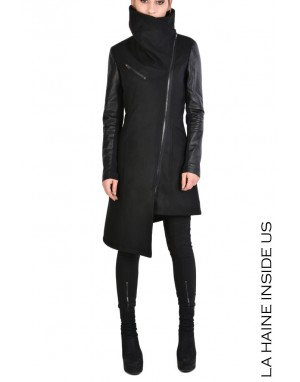 4B STHALY COAT Leather Black