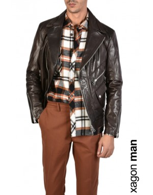 SPORT JACKET GCHIO2 Chiodo Leather Brown