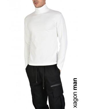 T-SHIRT Manica Lunga SPIN1 Bianco
