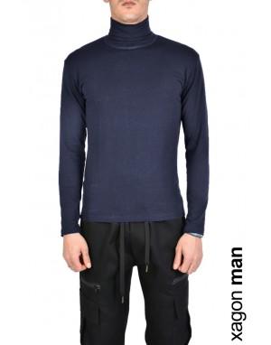 T-SHIRT Manica Lunga SPIN1 Blu