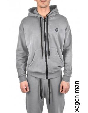 CARDIGAN FLEECE MDAWS6 Grey