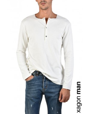 T-SHIRT Manica Lunga JX2102 Bianco