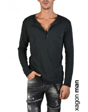 T-SHIRT Long Sleeves JX2102 Black