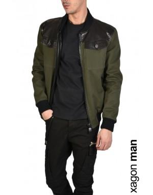 SPORT JACKET GLARBU Leather Green