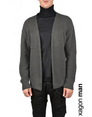 CARDIGAN MDAW22 Grey
